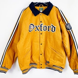 STALL & DEAN Oxford Bomber Letterman Jacket 4xl